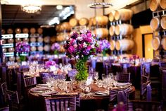 purple guest table