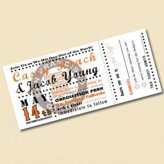 Printable Baseball Ticket Invitation Digital File by InviteMe, $48.00