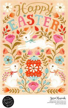 Easter Art, Easter Crafts, Easter Bunny, Easter Illustration, Easter Pictures, Scandinavian Folk Art, Spring Art, Easter Holidays, Illustrations