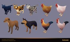 ArtStation - Hand Painted Animals Two, Lucas Fernandes