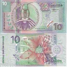 Bird Note, Suriname has such beautiful currency.