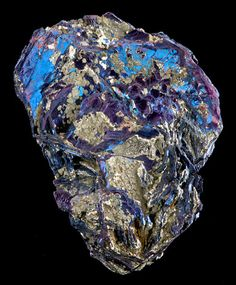 Covellite with Pyrite from Italy