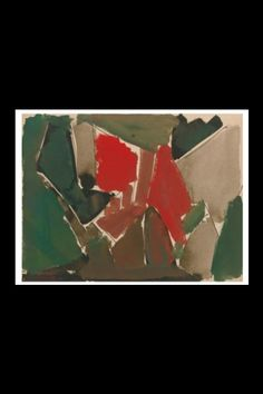"""Nicolas De Staël - """" Abstraction """", 1950 - Watercolor and ink on board - 24 x 31 cm (*)"""