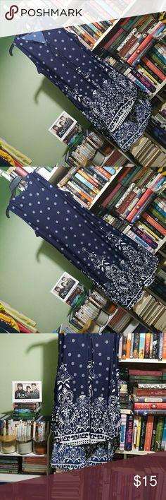Sleeveless Hi-Lo Dress Blue and white sleeveless hi-lo dress. Reborn Dresses High Low