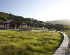 Steinrand Haus im Wald Gebirge Sonnenuntergang