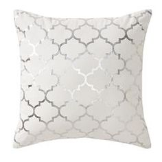 Apt. 9® Trellis Gray Foil Throw Pillow