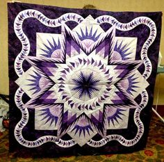 Glacier Star, Quiltworx.com, Made by Cindy Sumners, Taught by CI Ginny Radloff.