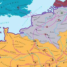40 maps that explain the Roman Empire - Vox. Caesar conquers Gaul.