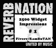 Reverbnation Widget Impressions
