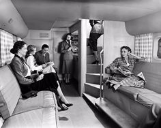 Boeing 377 Stratocruiser Lounge