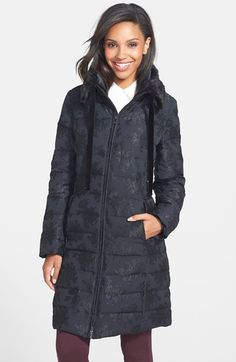Vera Wang Faux Fur Trim Down Coat (Online Only) available at #Nordstrom