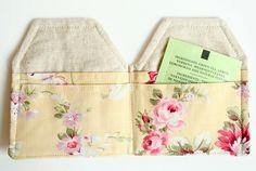 tea bag wallet by andrea creates, via Flickr