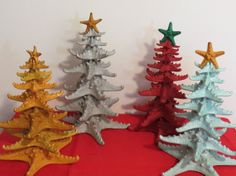 Starfish Table Top Christmas Trees by Imaginethatcreation on Etsy, $45.00