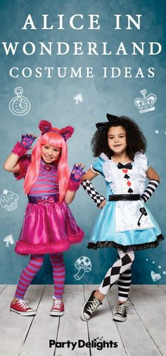 Looking for World Book Day costume ideas? If you've been tasked with finding an amazing costume for your child, check out our Alice in Wonderland costume ideas for inspiration. From classic Alice costumes to the Mad Hatter, the Queen of Hearts and the Cheshire Cat, read our round-up for the best costume ideas! Sister Costumes, Crazy Costumes, Cool Costumes, Costume Ideas, World Book Day Costumes, Book Character Costumes, Alice In Wonderland Characters, Alice In Wonderland Costume, Halloween Festival