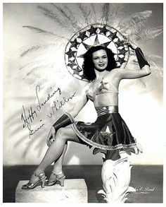 "Promo photo of Geri Whitlow, signed: ""Happy Landing!"""
