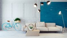 30 Blue Living Rooms