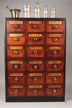 Attrayant Apothecary Cabinet W/ Apothecary Items