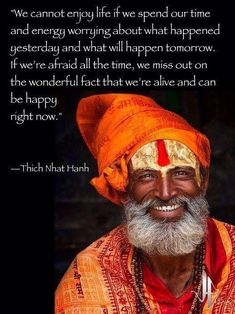 Be happy... right now.