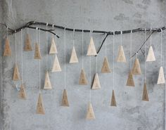 Hanging trees advent calendar {from Morning Creativity}