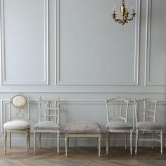 アンティーク フレンチチェア 白 インテリア 椅子 家具 インテリアアイディア フレンチシック antiques furniture interior home decor chair white room