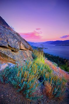 sunset over the small town of Naramata at Okanagan Lake, British Columbia, Canada British Columbia, Rocky Mountains, Places To Travel, Places To See, Travel Destinations, Vacation Travel, Beautiful World, Beautiful Places, Peaceful Places