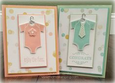 Another one of my friends welcomed a new addition to their family--a beautiful baby girl! Here's the card I created for the new lil lady and her family: I used Something for Baby stamp set and the ...