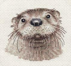 cross stitch otter