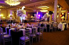 Flowers, Reception, White, Red, Purple, Silver, Belvedere banquets