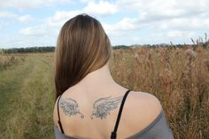 angel, wings, tattoos, back, woman, sexy