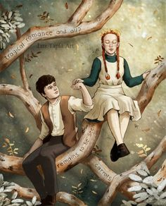 Anne Green, Anne Shirley, Gilbert And Anne, Anne White, Amybeth Mcnulty, Gilbert Blythe, Anne With An E, Japon Illustration, Poster S