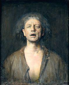 Self-Portrait with Eyes Closed    Odd Nerdrum, 1991