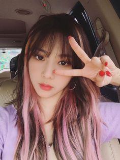 Hair Color Streaks, Hair Dye Colors, Kpop Girl Groups, Kpop Girls, Hair Inspo, Hair Inspiration, Aesthetic Hair, Dream Hair, Hair Goals