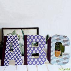 Los libros con forma de letra: para decorar y escribir