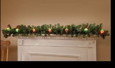 BUBBLE LIGHTS pine wreath GARLAND greenery string christmas tree holiday mantel #Unbranded