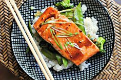 Simply Scratch » Honey-Teriyaki Glazed Salmon with Stir-Fry Veggies