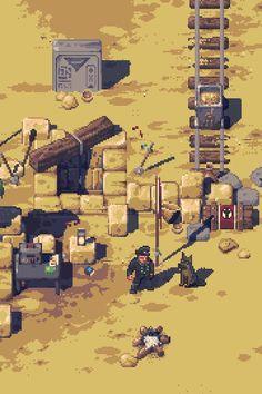 Pathway game - pixelart