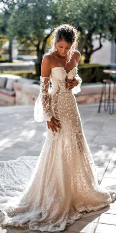 So you must also think about beautiful and delicate summer wedding dresses. There is no better than light flowy beach bridal gown this day. 24 Summer Wedding Dresses To Make Your Celebration Great Civil Wedding Dresses, Wedding Dress Trends, Best Wedding Dresses, Boho Wedding Dress, Bridesmaid Dresses, Mermaid Wedding, Wedding Ideas, Gown Wedding, Weeding Dresses