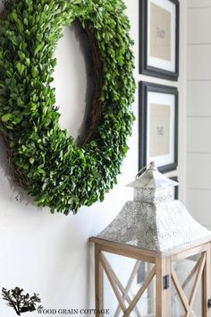 How to decorate with boxwoods.... Year round! By The Wood Grain Cottage