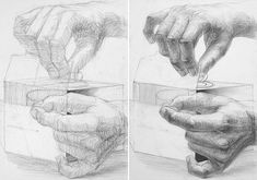 Technical Drawing, Step By Step Drawing, Pictures To Draw, Optical Illusions, Pencil Art, How To Draw Hands, Sketches, Drawings, Illustration