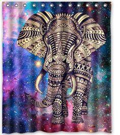 """Elephant Touch Heart 60""""(w) x 72""""(h) Bath Shower Curtain Shower Curtains http://www.amazon.com/dp/B00MMW9U0A/ref=cm_sw_r_pi_dp_j9Yeub0RQN3B7"""