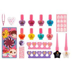 Pop Magical Manicure Nail Salon Collection, 18 piece Kids Makeup, Makeup Set, Nail Manicure, Nail Polish, Nails, Types Of Makeup, Makeup Items, Makeup Essentials, Little Bow