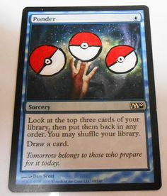 MTG Altered Painted Ponder M10 #WizardsoftheCoast