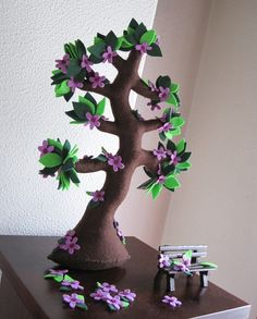 Reserved by angelxox - Spring tree blooming - Felt tree