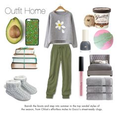 """Outfit Home"" by sophiebenson16 on Polyvore featuring Accessorize, Christy, PèPè and Huda Beauty"