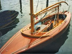 Restaurierte J-Jolle im Hafen