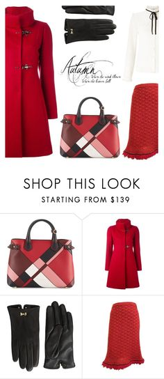 """Autumn"" by rasa-j ❤ liked on Polyvore featuring Burberry, FAY, Ted Baker, Chanel, Lipsy, womenfashion, gloves, Fall2016 and autumn2016"