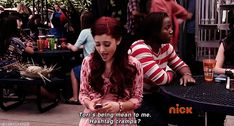ariana grande funny gif discovered by Marie J Ariana Grande Quotes, Ariana Grande Gif, Funny Relatable Memes, Funny Gifs, Hilarious, Icarly And Victorious, The Thundermans, Nickelodeon Shows, Sam And Cat