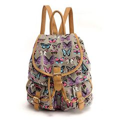 Girls Butterfly Canvas Backpack Rucksack School bag College Shoulder Bag (Butterfly Gray) HB Style http://www.amazon.co.uk/dp/B00U9A3IUK/ref=cm_sw_r_pi_dp_aXYRvb1QBP28Y