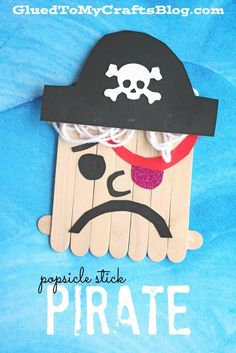 Popsicle Stick Pirate - Kid Craft