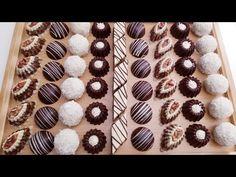 4 اشكال لحلويات بدون فرن no baking sweets - YouTube Sweets Recipes, Cookie Recipes, Food Decoration, No Bake Cookies, Mini Cupcakes, Truffles, Cake Pops, Animal Print Rug, Food And Drink